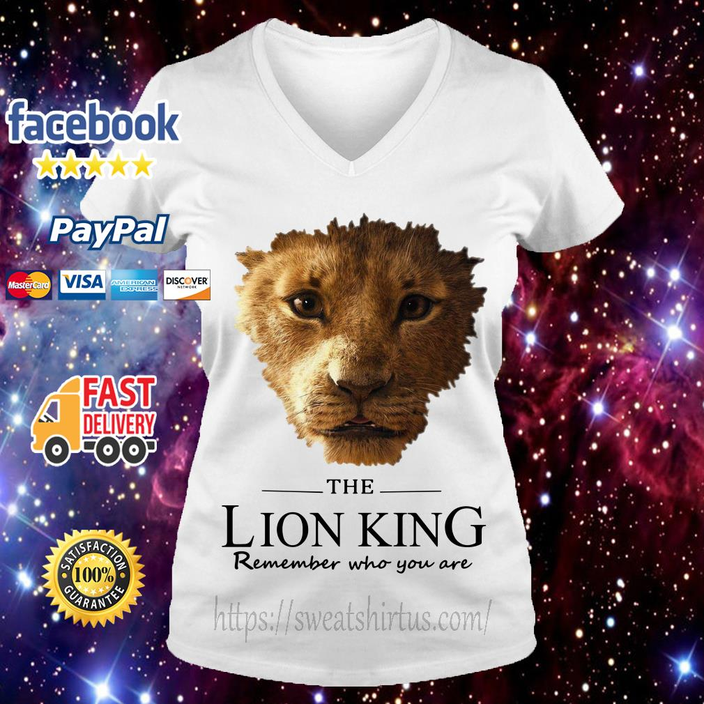 The Lion King Simba remember who you are V-neck T-shirt