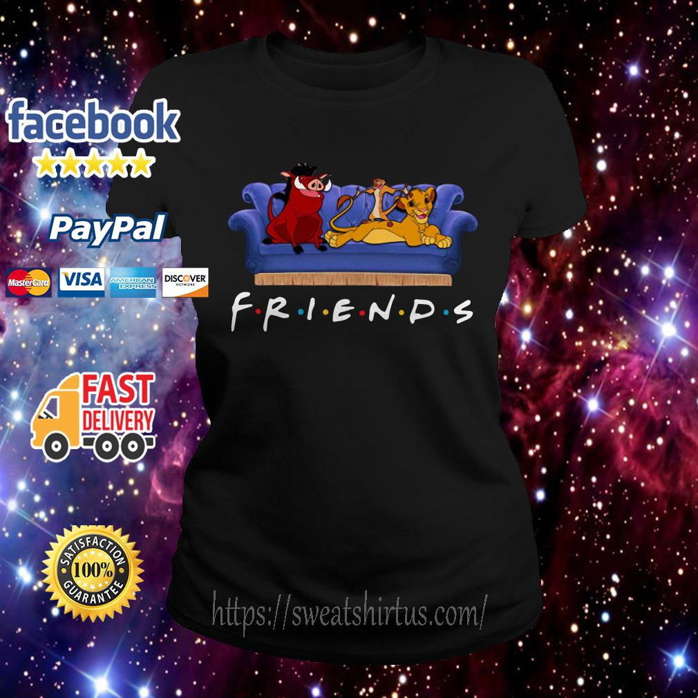 The Lion King watch Friends TV show Ladies Tee