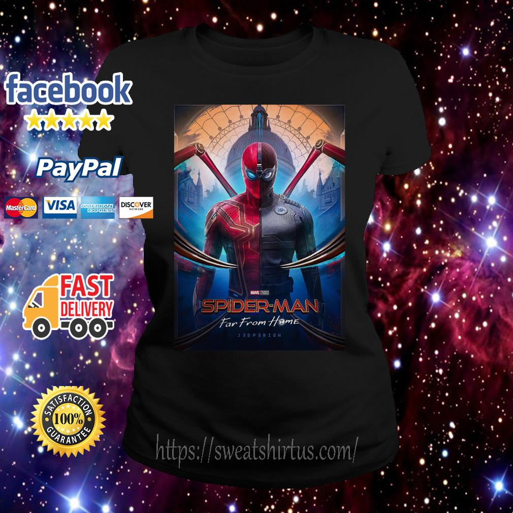Marvel Spider-man Far From Home movie poster Ladies Tee