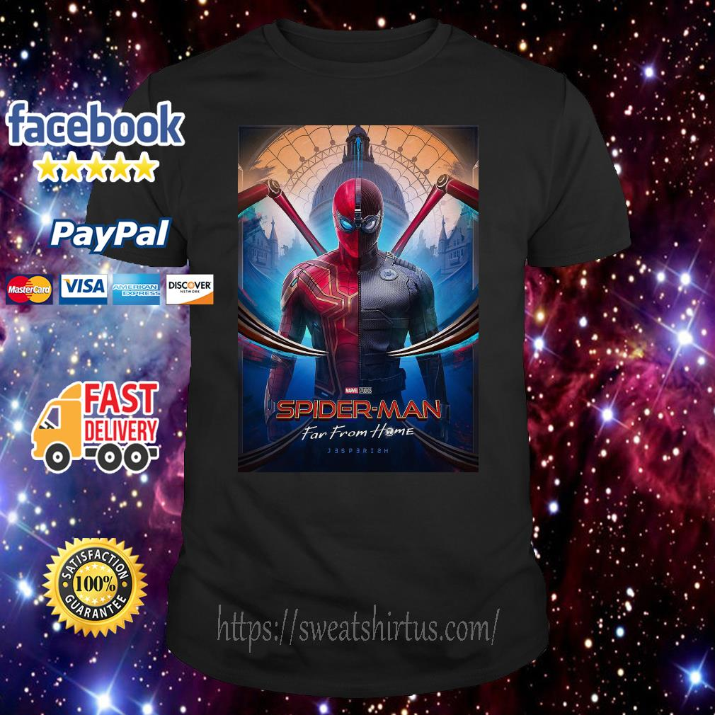 Marvel Spider-man Far From Home movie poster shirt