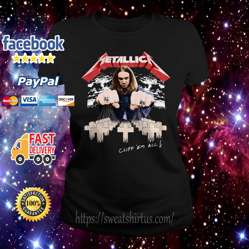 Metallica Cliff ´em all Ladies Tee