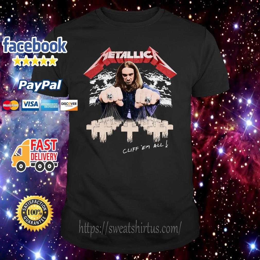Metallica Cliff ´em all shirt