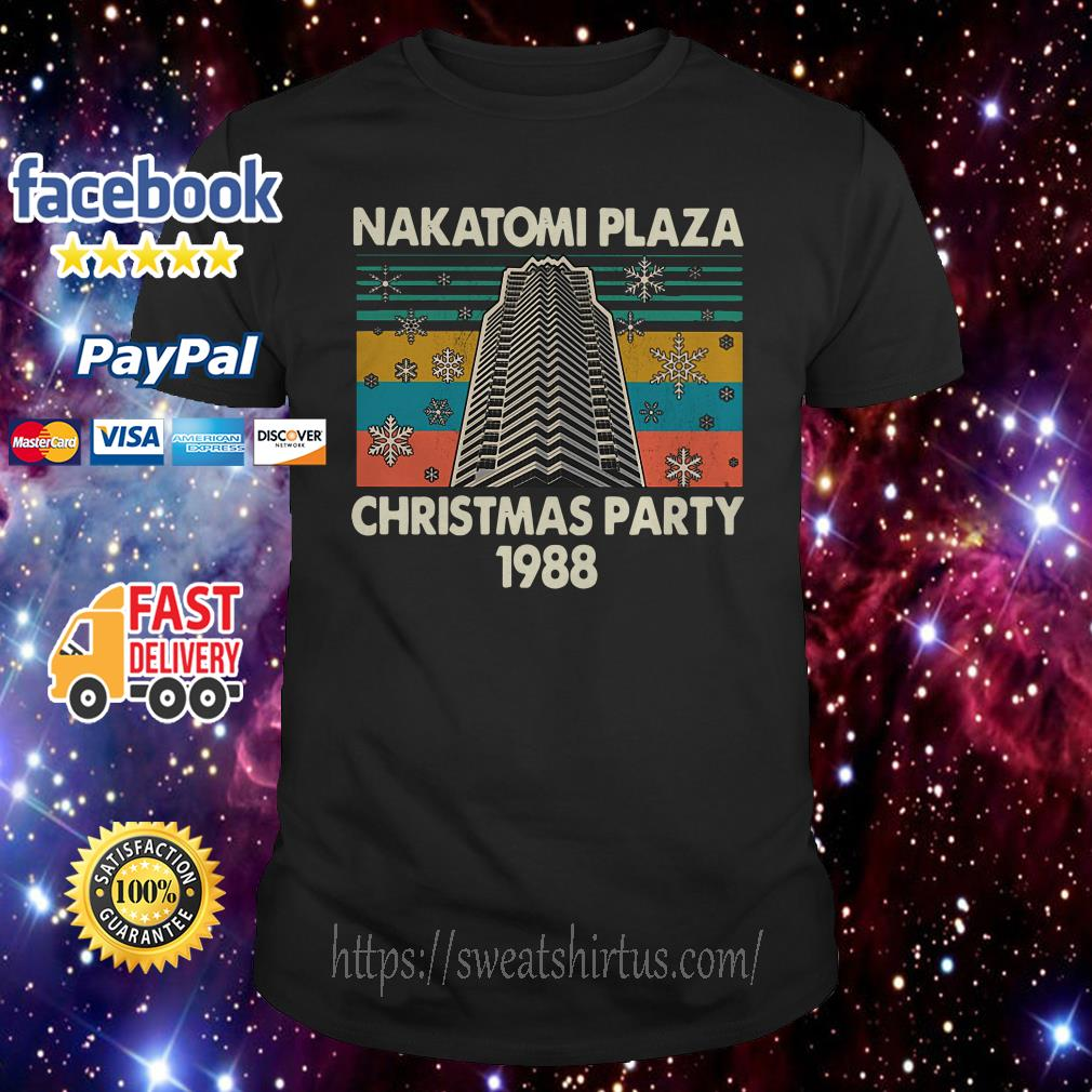 Nakatomi plaza Christmas party 1988 vintage shirt