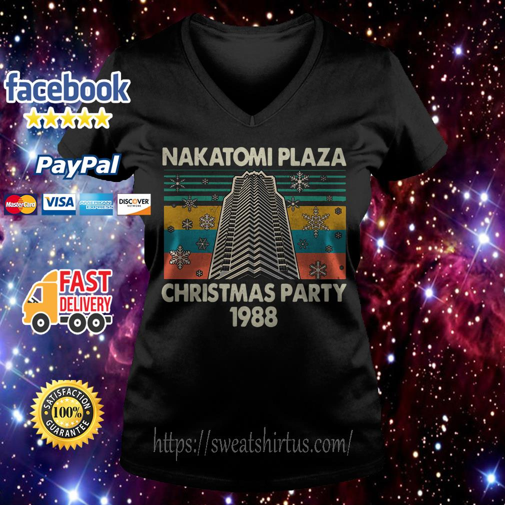Nakatomi plaza Christmas party 1988 vintage V-neck T-shirt