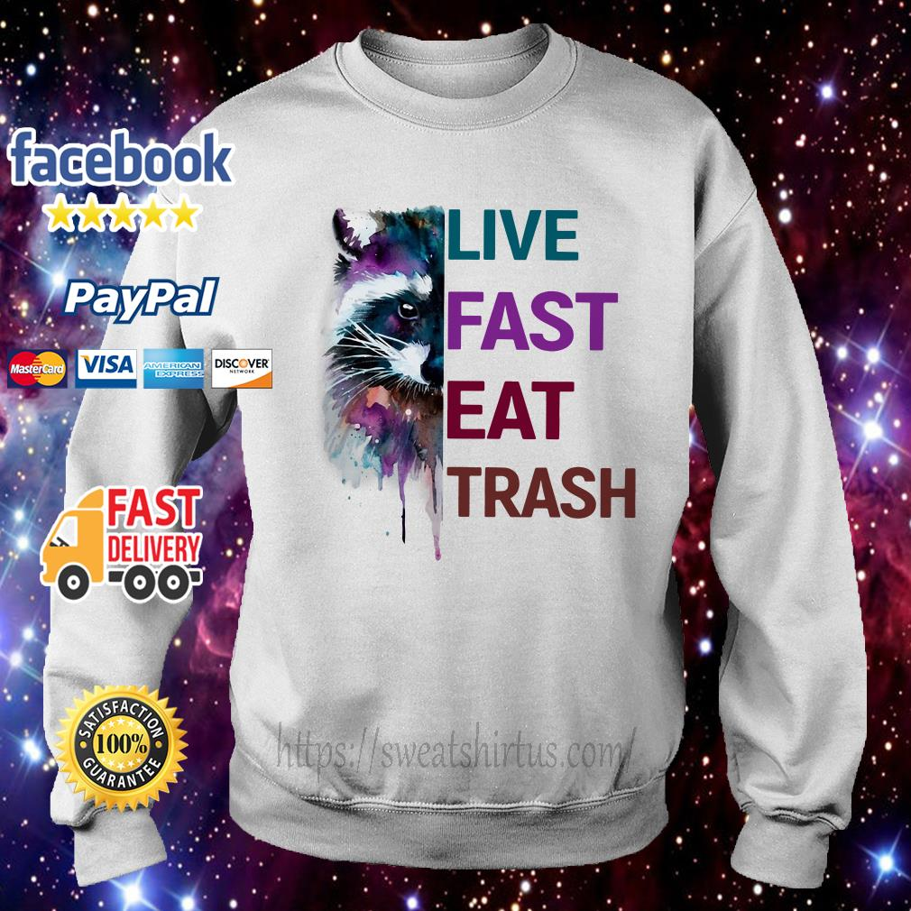Racoon live fast eat trash Sweater