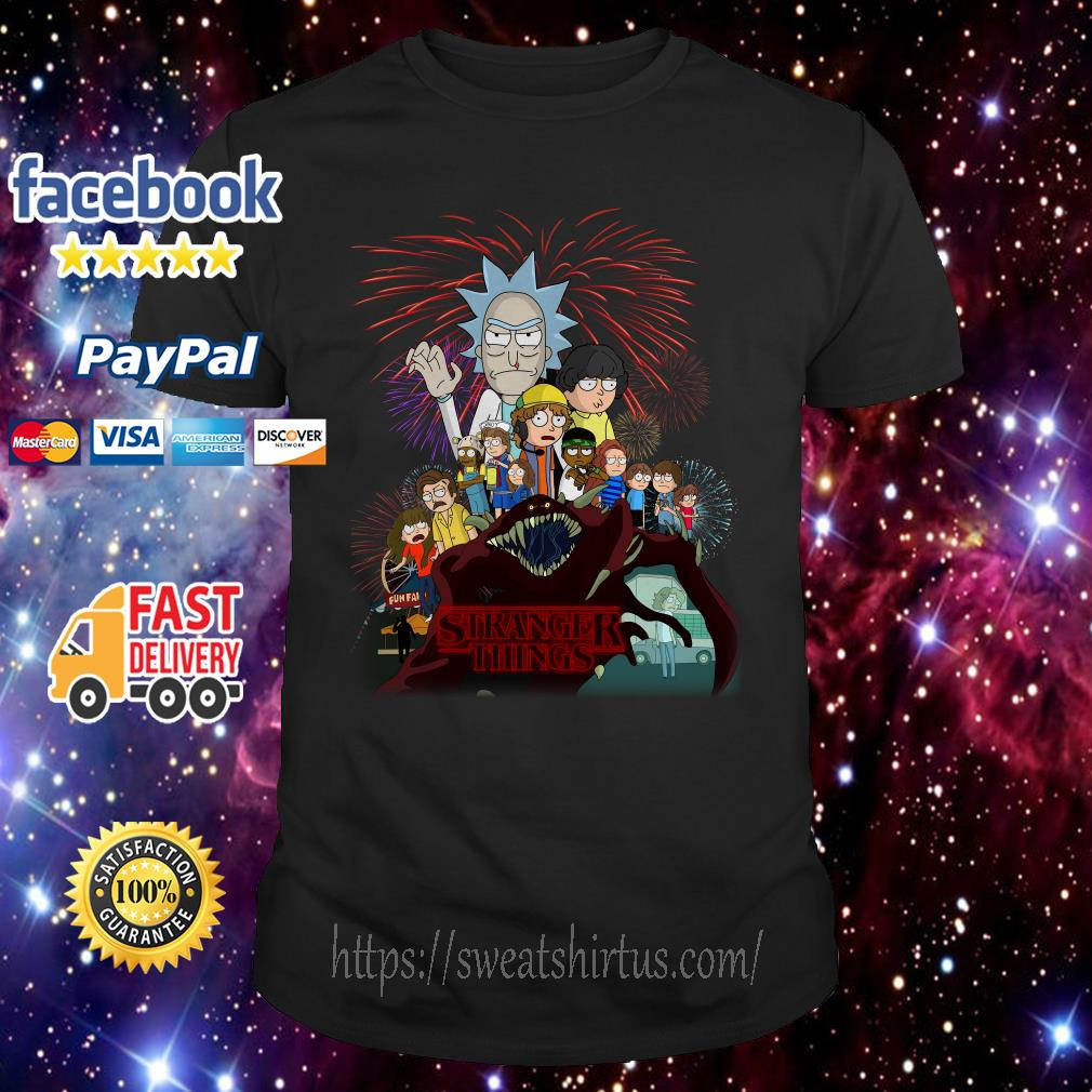 Rick and Morty Stranger Things shirt
