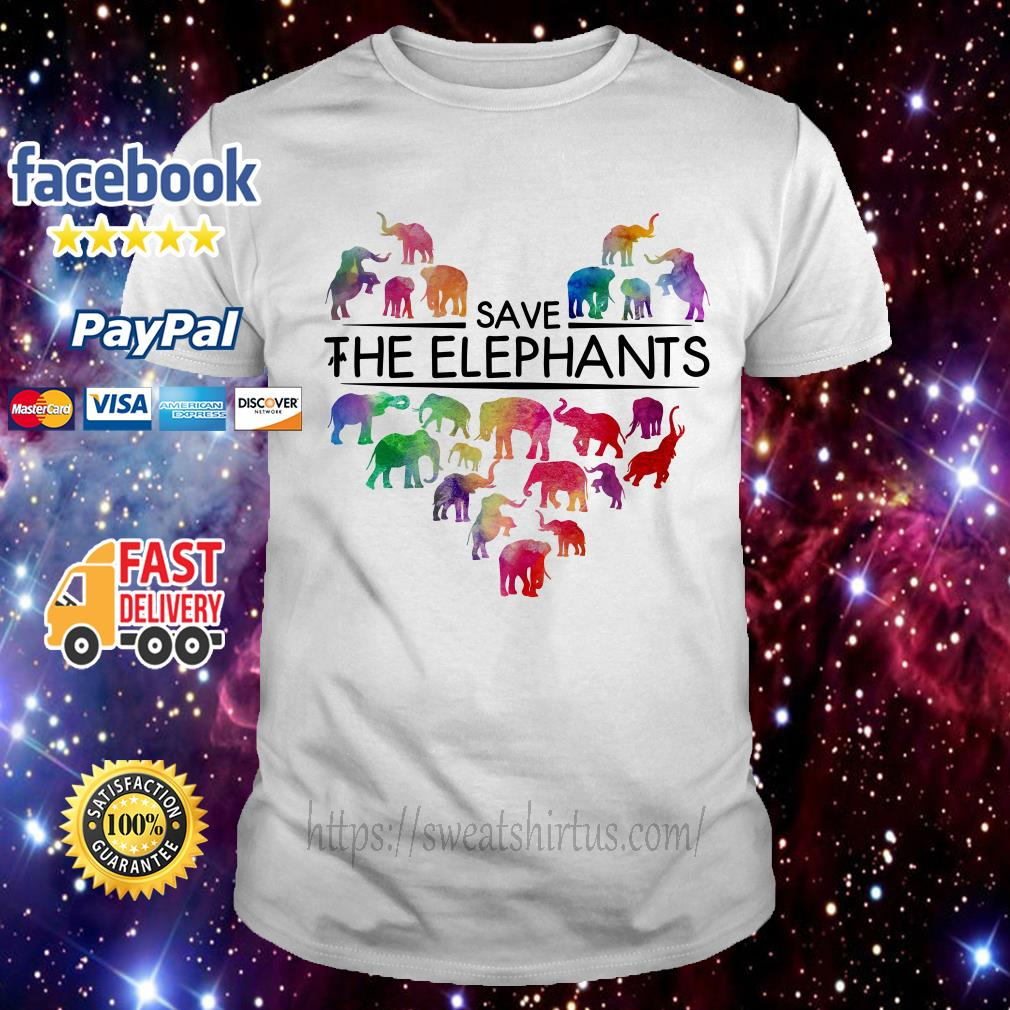 Save the elephants shirt