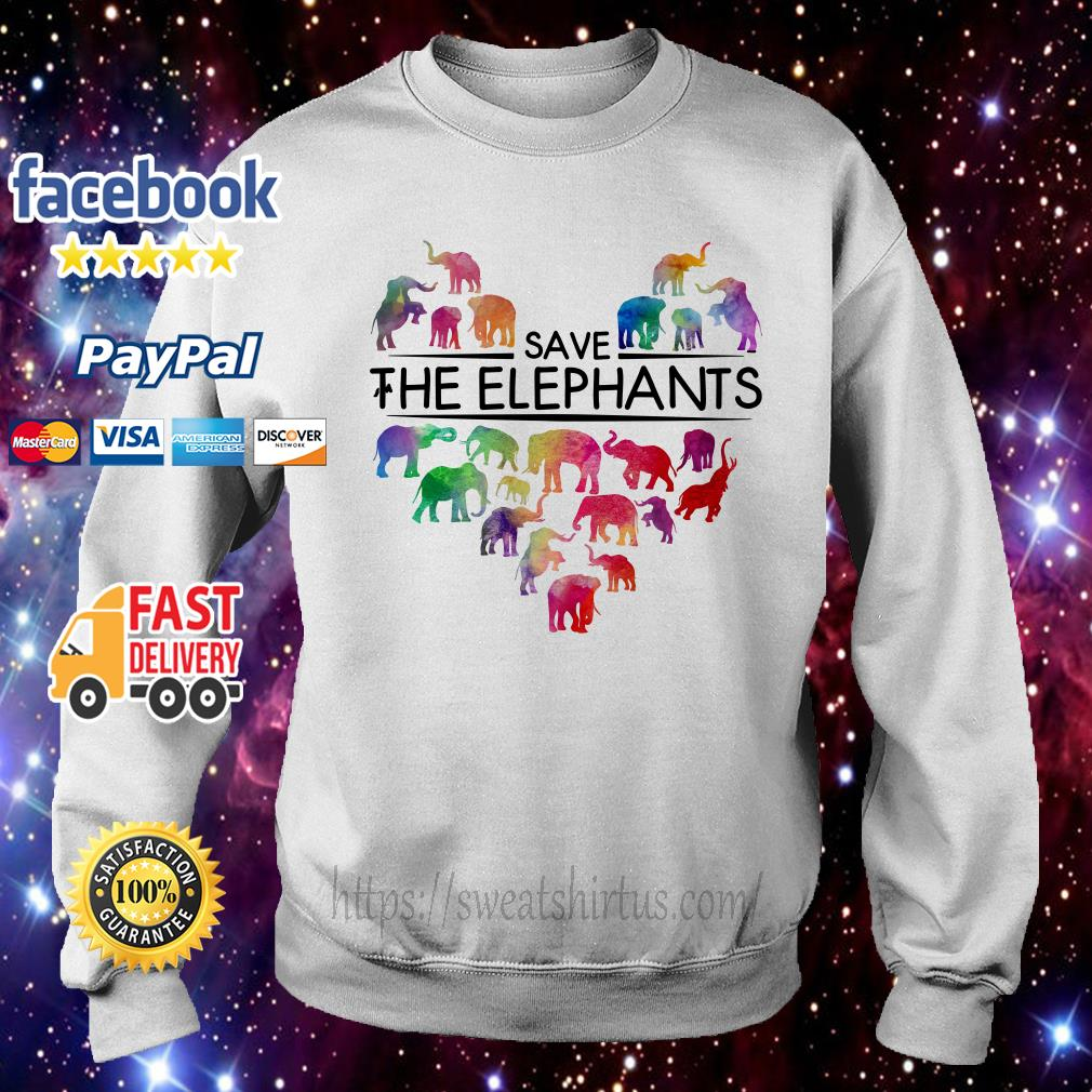 Save the elephants Sweater