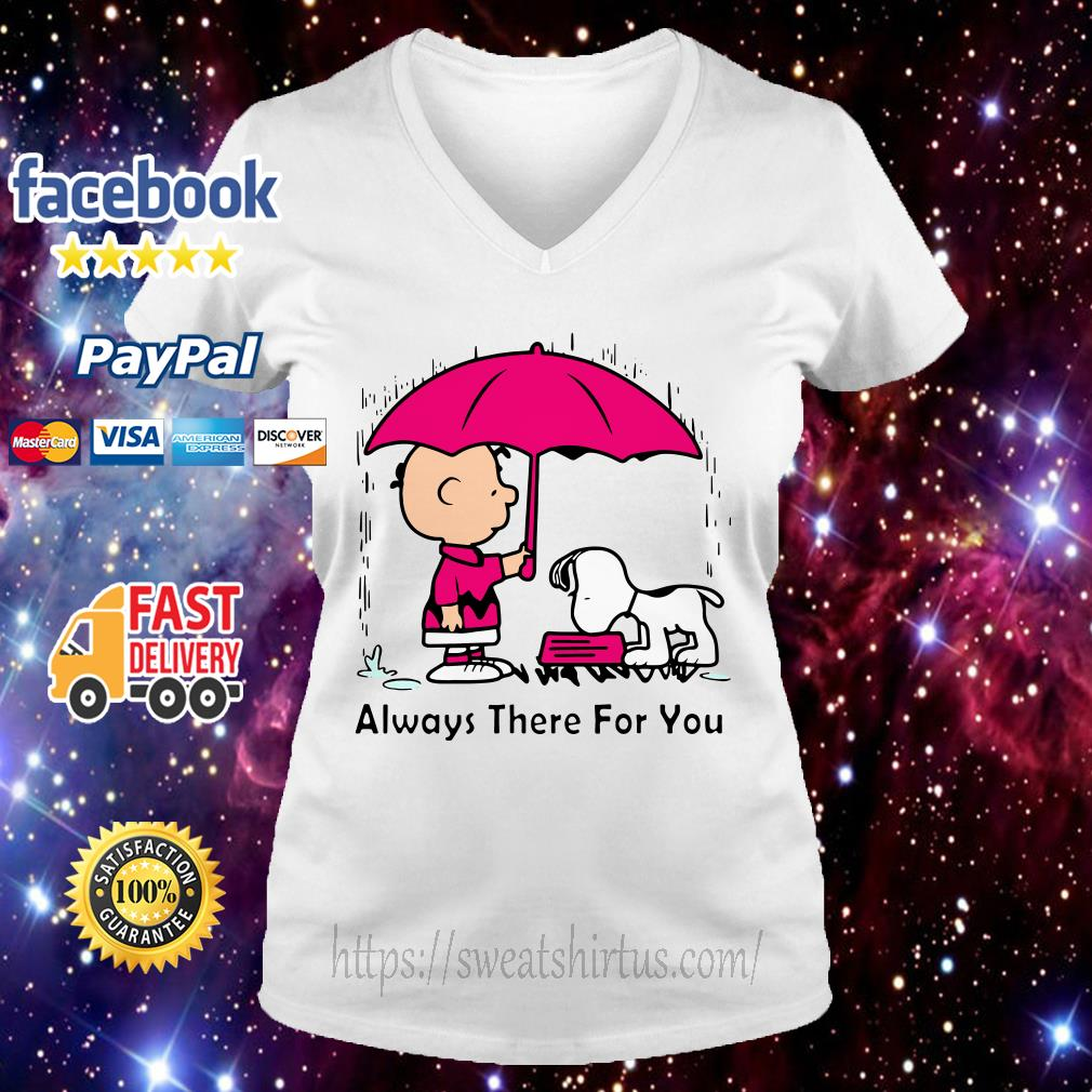 Snoopy and Charlie Brown always there for you V-neck T-shirt