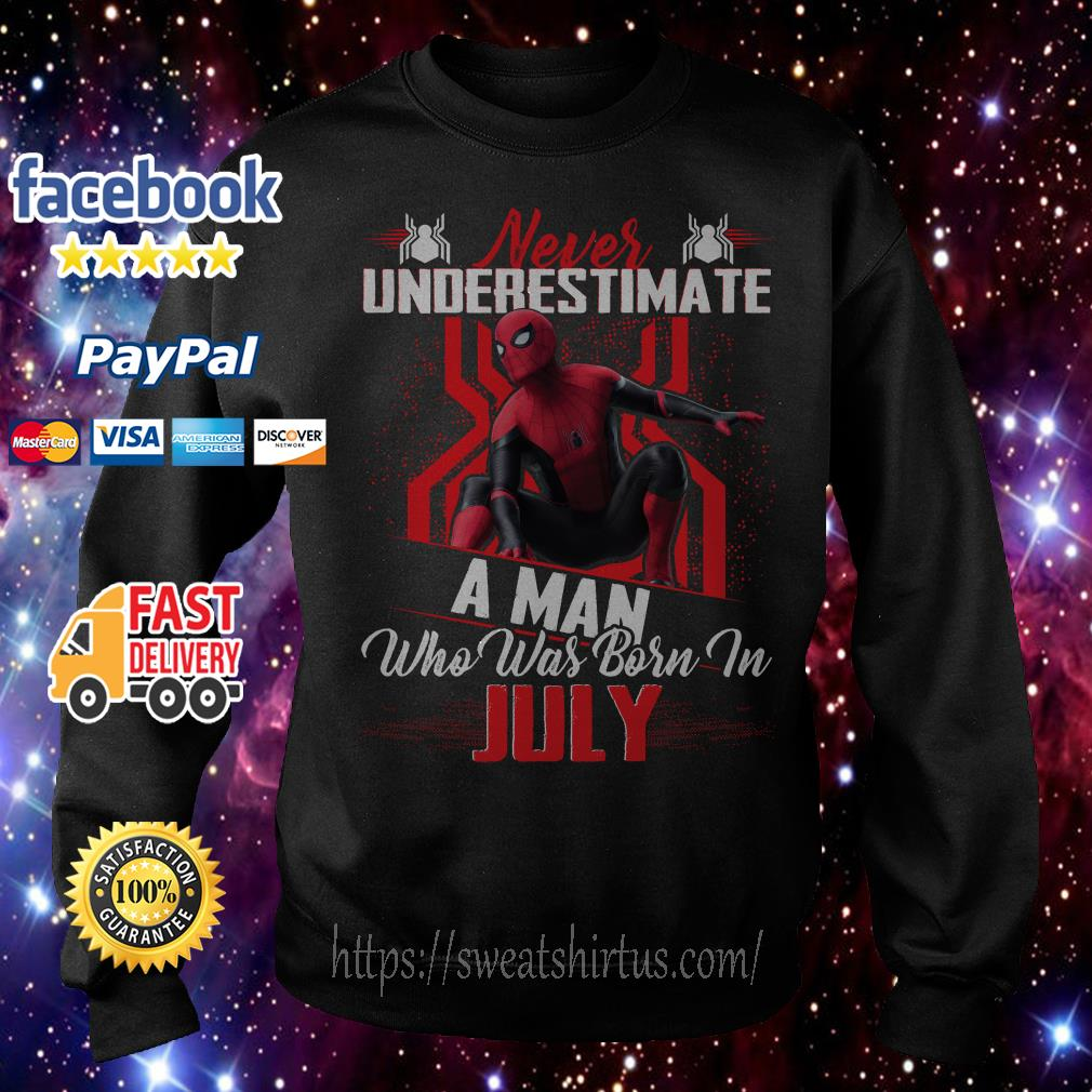 Spider-man Never underestimate a man who was born in July Sweater