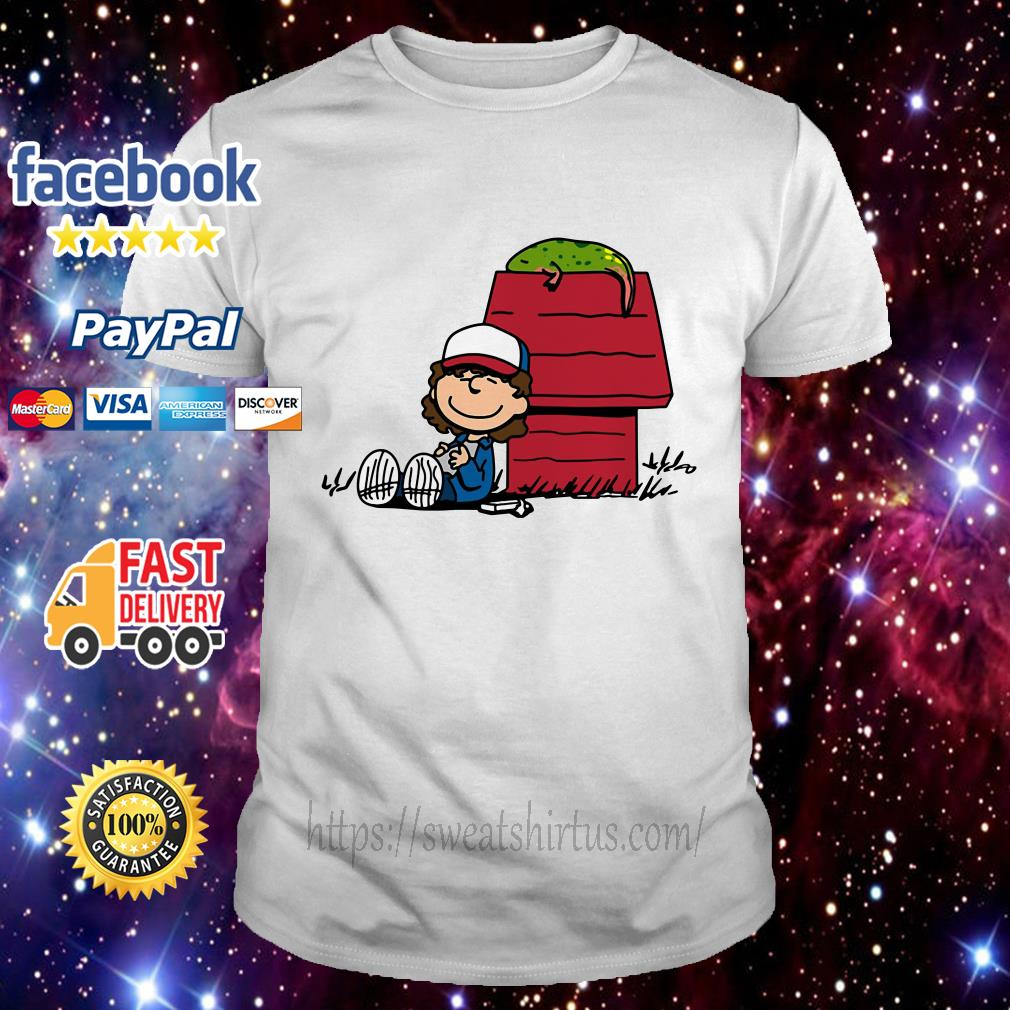 Stranger Things Dustin and Dart Peanuts mix shirt