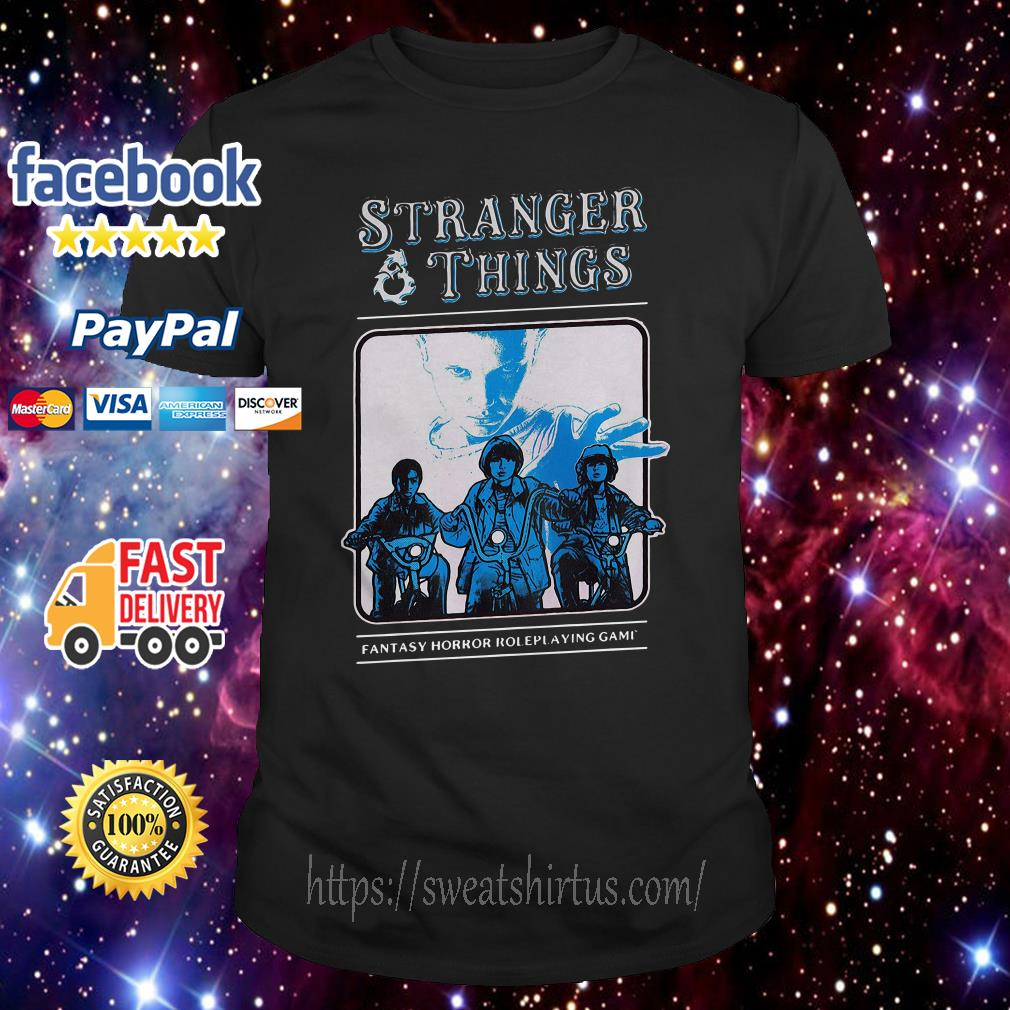 Stranger Things fantasy horror roleplaying game shirt