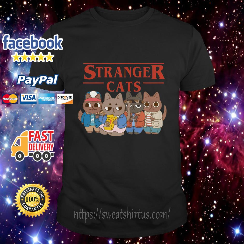 Stranger Things Stranger cats shirt