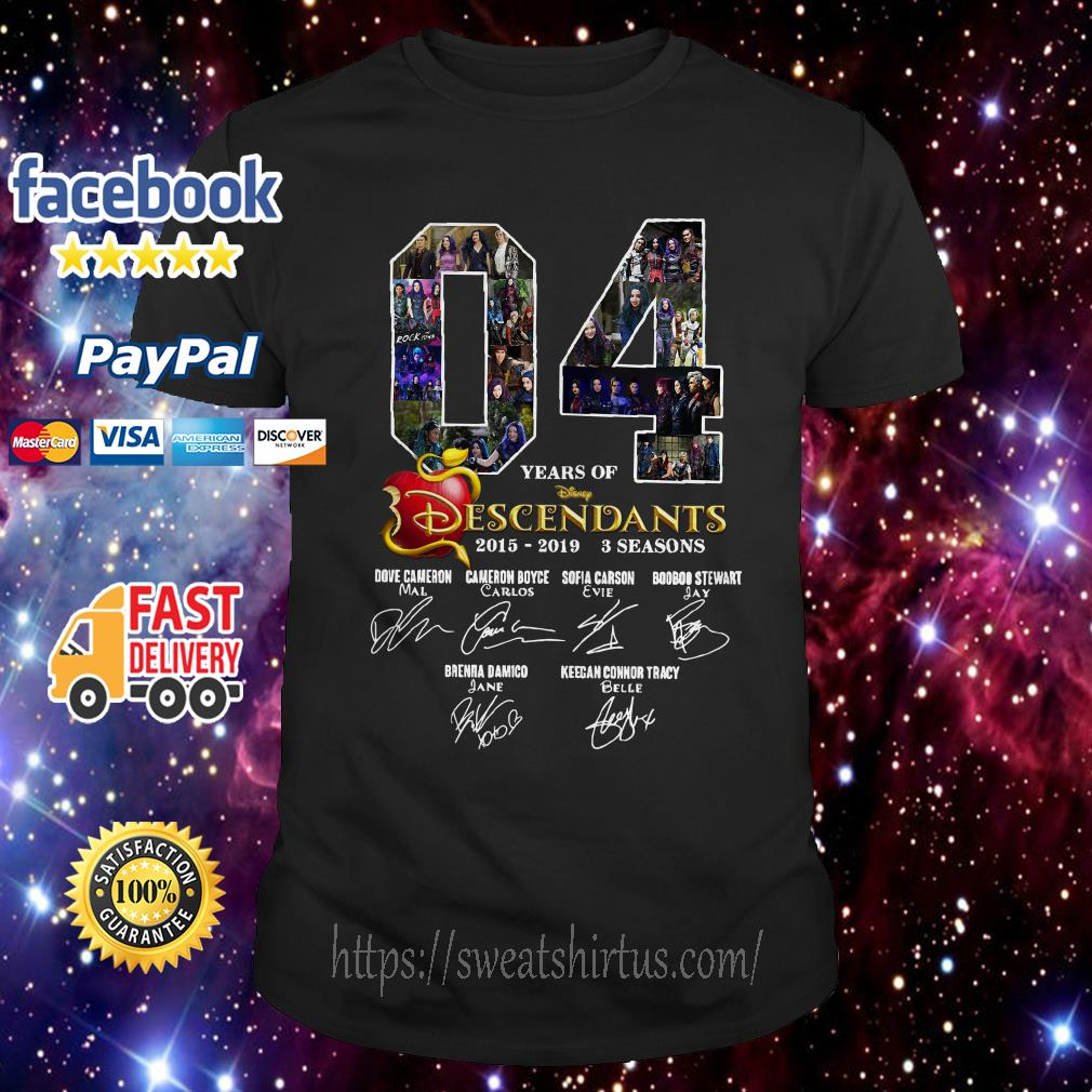 04 Years of Descendants 2015-2019 3 seasons signatures shirt