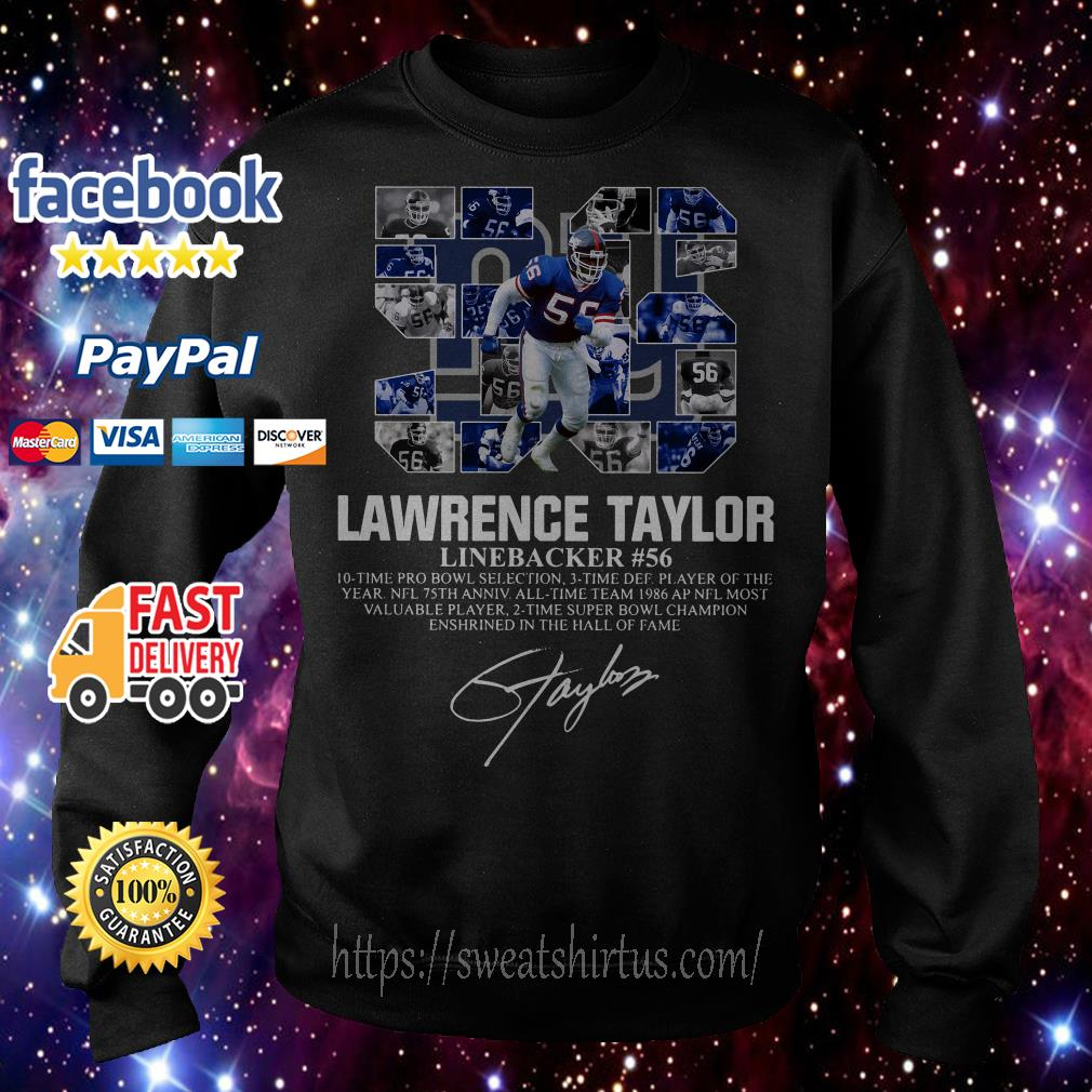 56 Lawrence Taylor Linebacker #56 10 time Pro Bowl selection signature Sweater