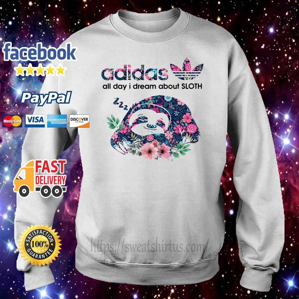 Adidas all day I dream about sloth floral Sweater
