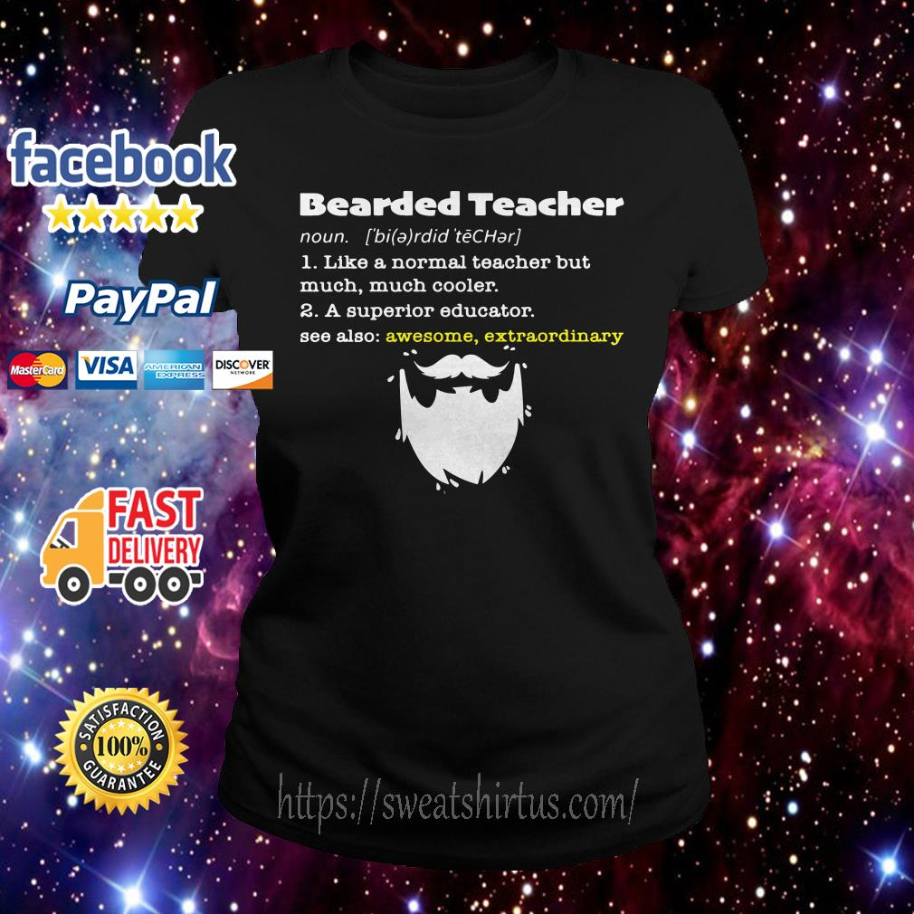 Bearded teacher like a normal teacher but much much cooler ladies-tee
