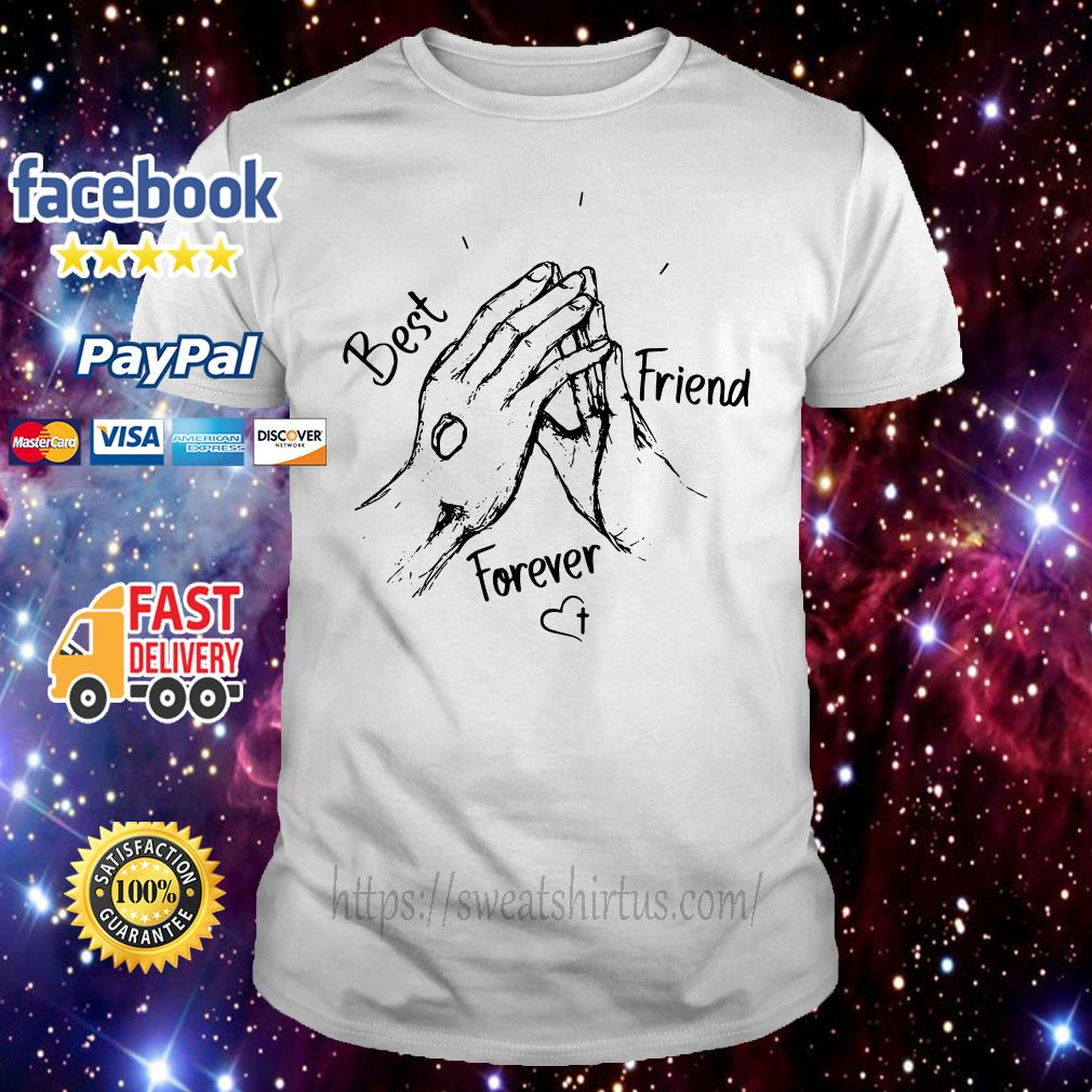 Best friend forever hand people shirt