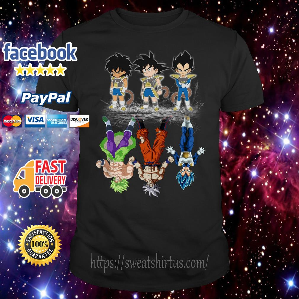 Broly Goku and Vegeta reflection The Lion King shirt