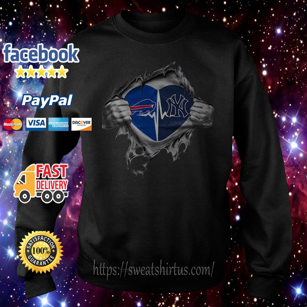 Buffalo Bills and York Yankees It's in my heart Sweater