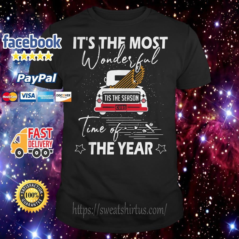 Chicago Cubs It the most wonderful time of the year Christmas shirt