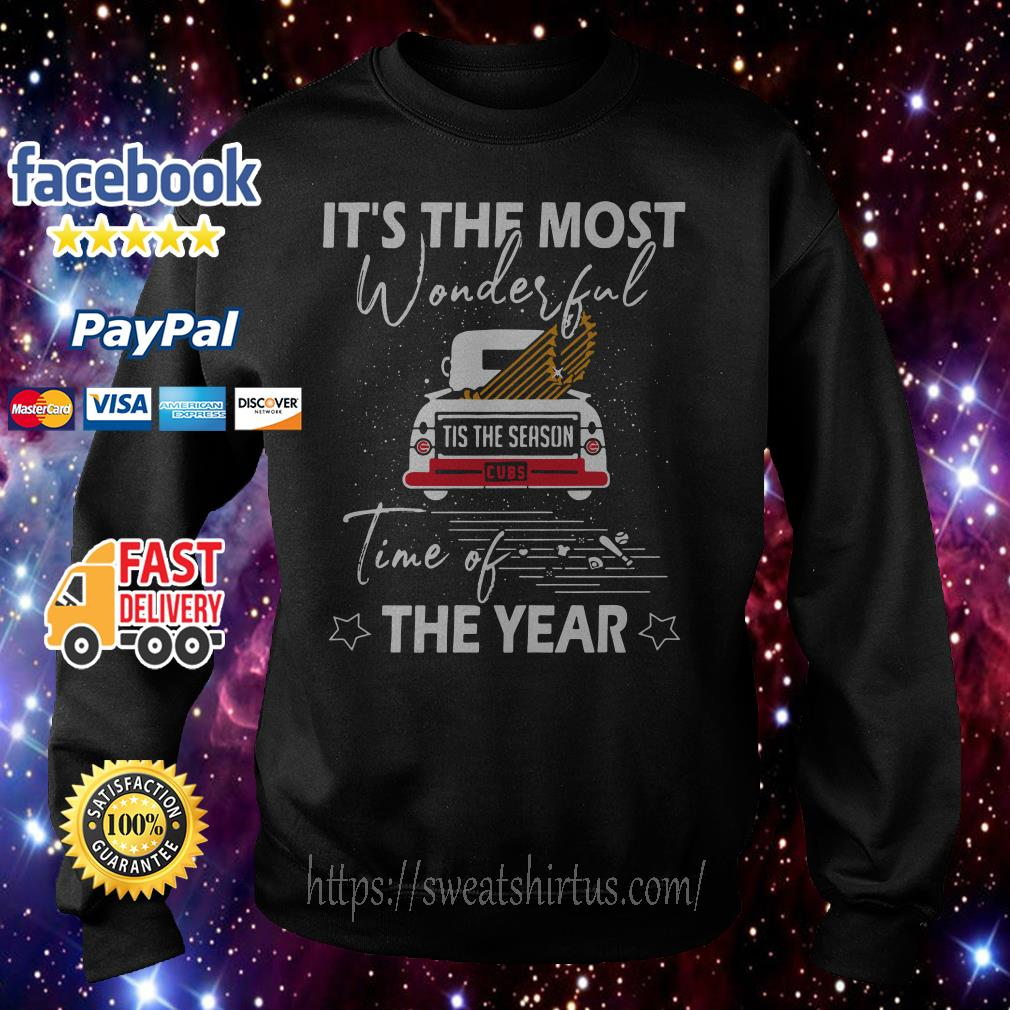 Chicago Cubs It the most wonderful time of the year Christmas Hoodie