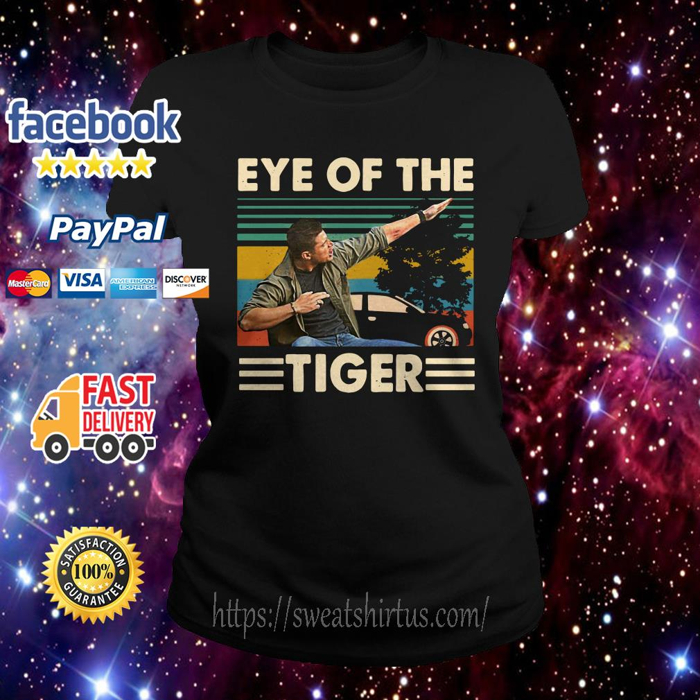 Dean Winchester Supernatural eye of the tiger vintage Ladies Tee