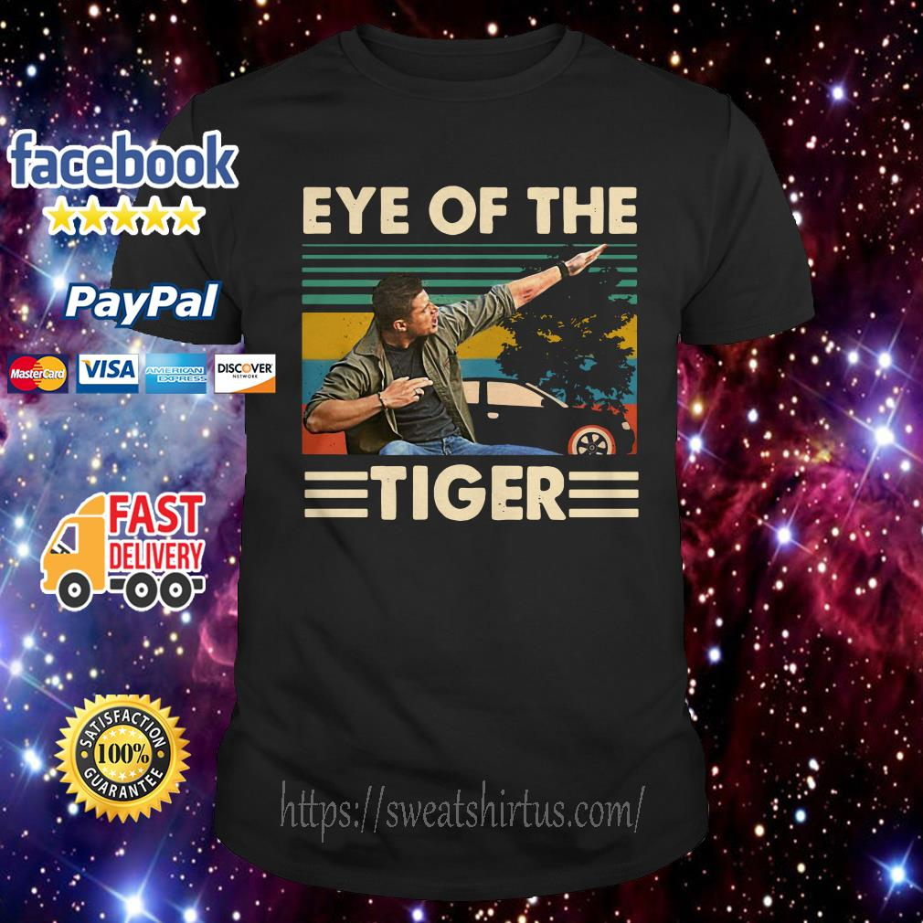 Dean Winchester Supernatural eye of the tiger vintage shirt