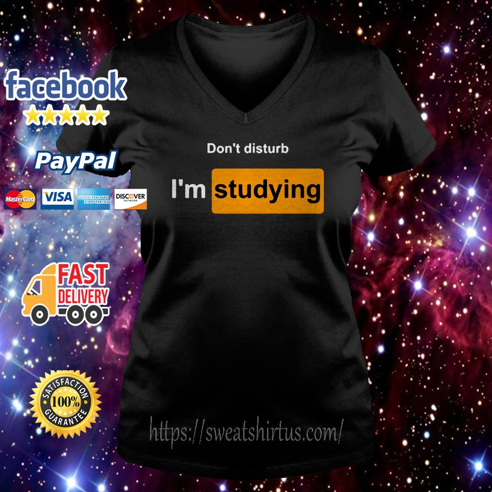Don't disturb I'm studying V-neck T-shirt