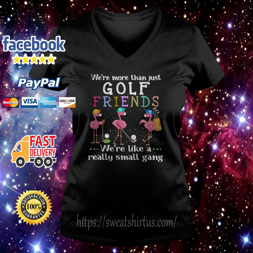 Flamingos we're more than just golf friends we're like a really small gang V-neck T-shirt