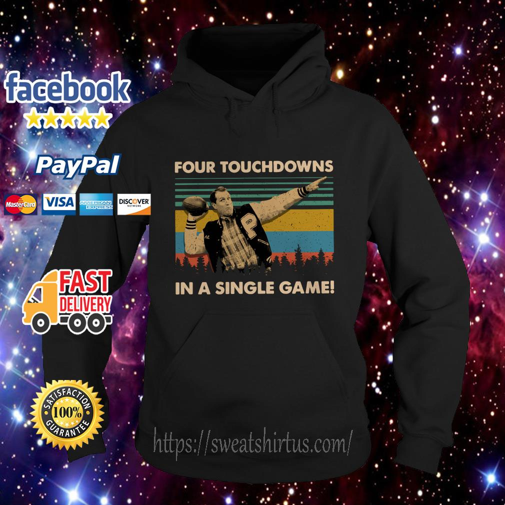 Football legend Al Bundy four touchdowns in a single game vintage Hoodie