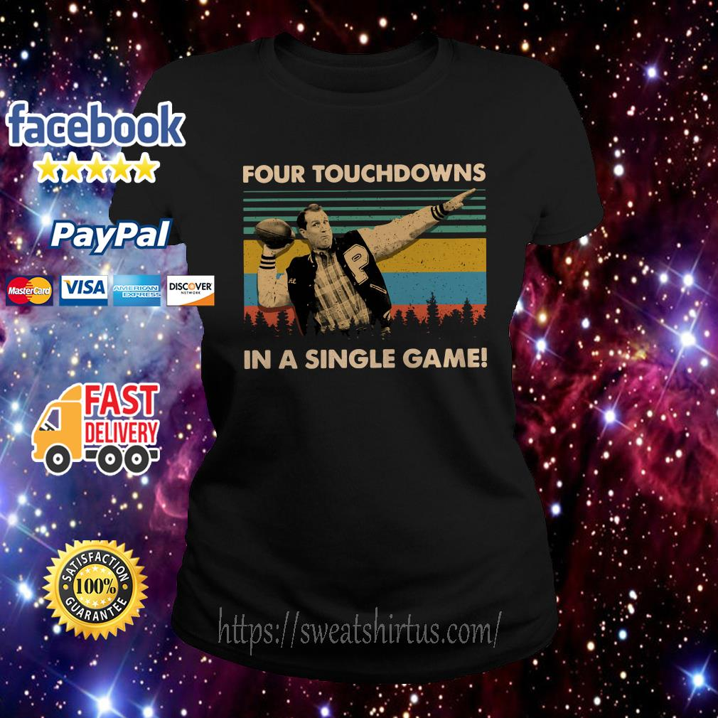 Football legend Al Bundy four touchdowns in a single game vintage Ladies Tee