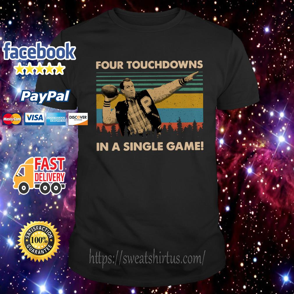 Football legend Al Bundy four touchdowns in a single game vintage shirt