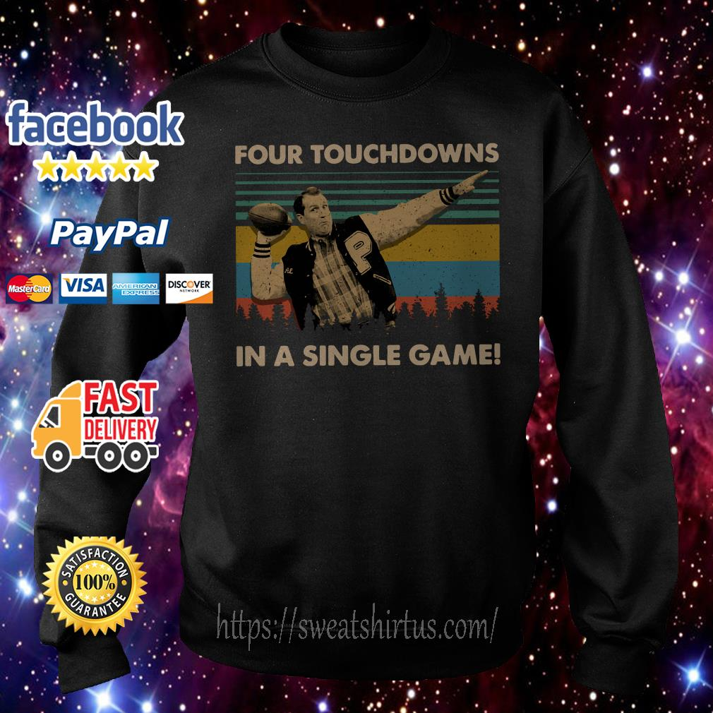 Football legend Al Bundy four touchdowns in a single game vintage Sweater