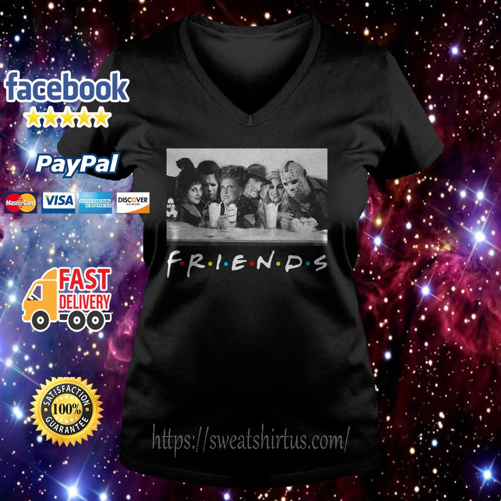 Friends Mary Sanderson Michael Myers and Winifred Sanderson horror movies V-neck T-shirt