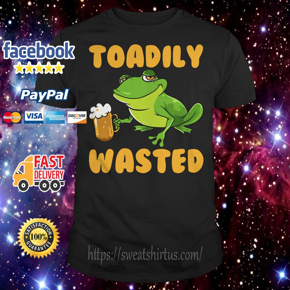 Frog with beer Toadily wasted shirt