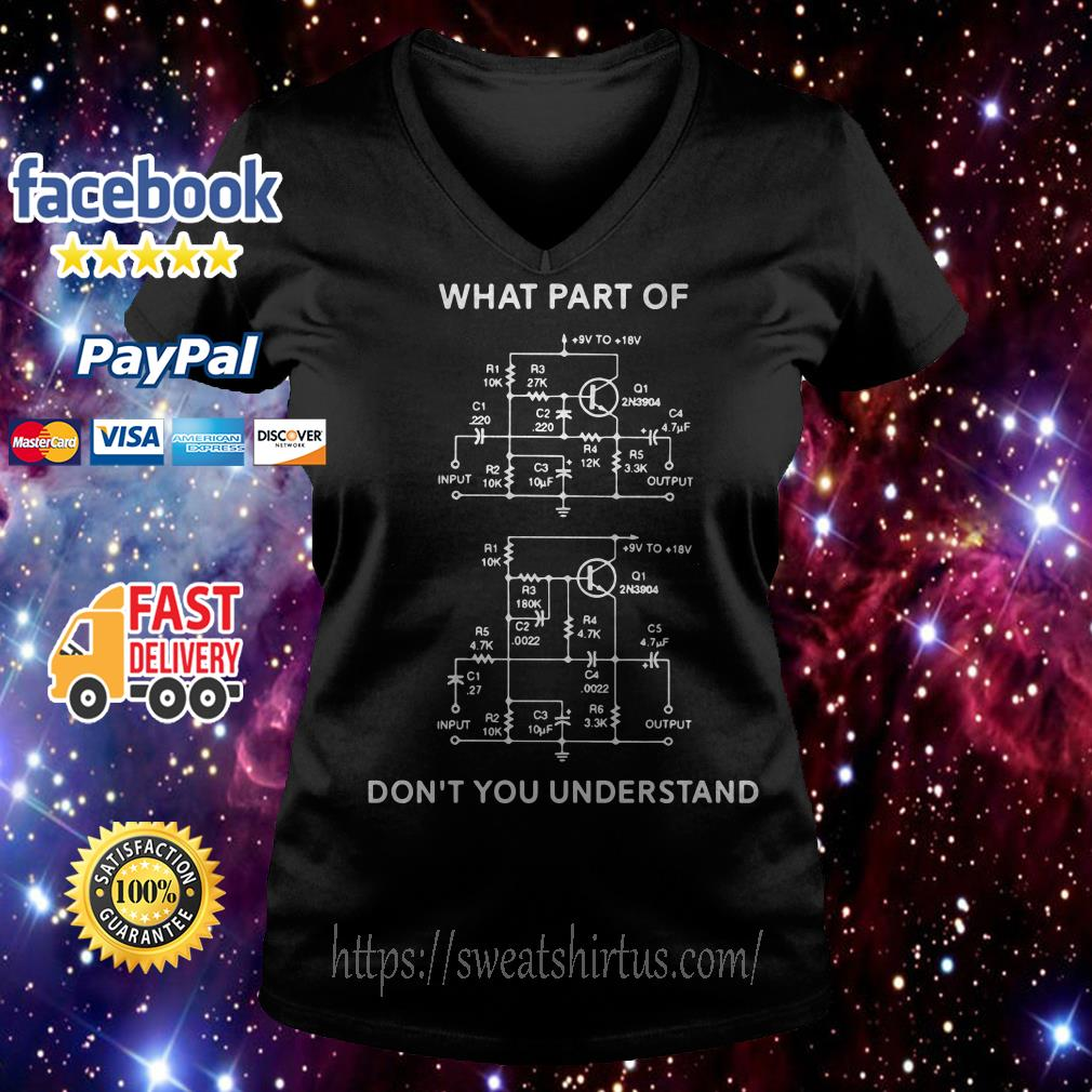 High-Low filter what part of don't you understand V-neck T-shirt