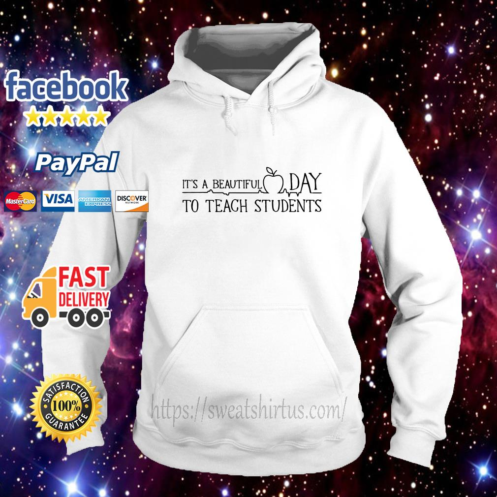 It's a beautiful day to teach students hoodie