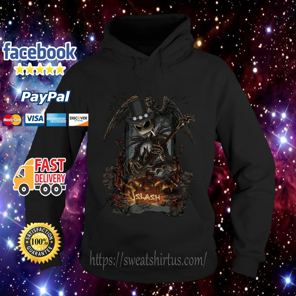 Jack Skellington Smoking Slash Pumpkin Signature Halloween Hoodie