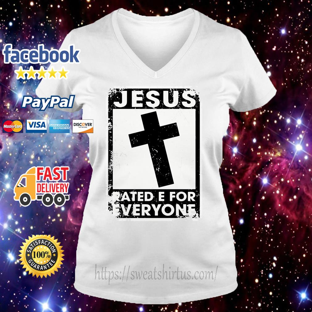Jesus rated E for everyone v-neck-t-shirt