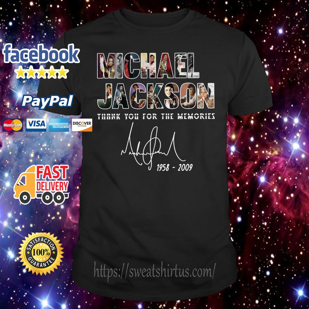 Michael Jackson 1958-2009 thank you for the memories signature shirt