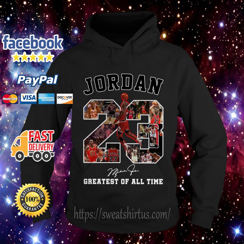 Michael Jordan 23 signature greatest of all time hoodie