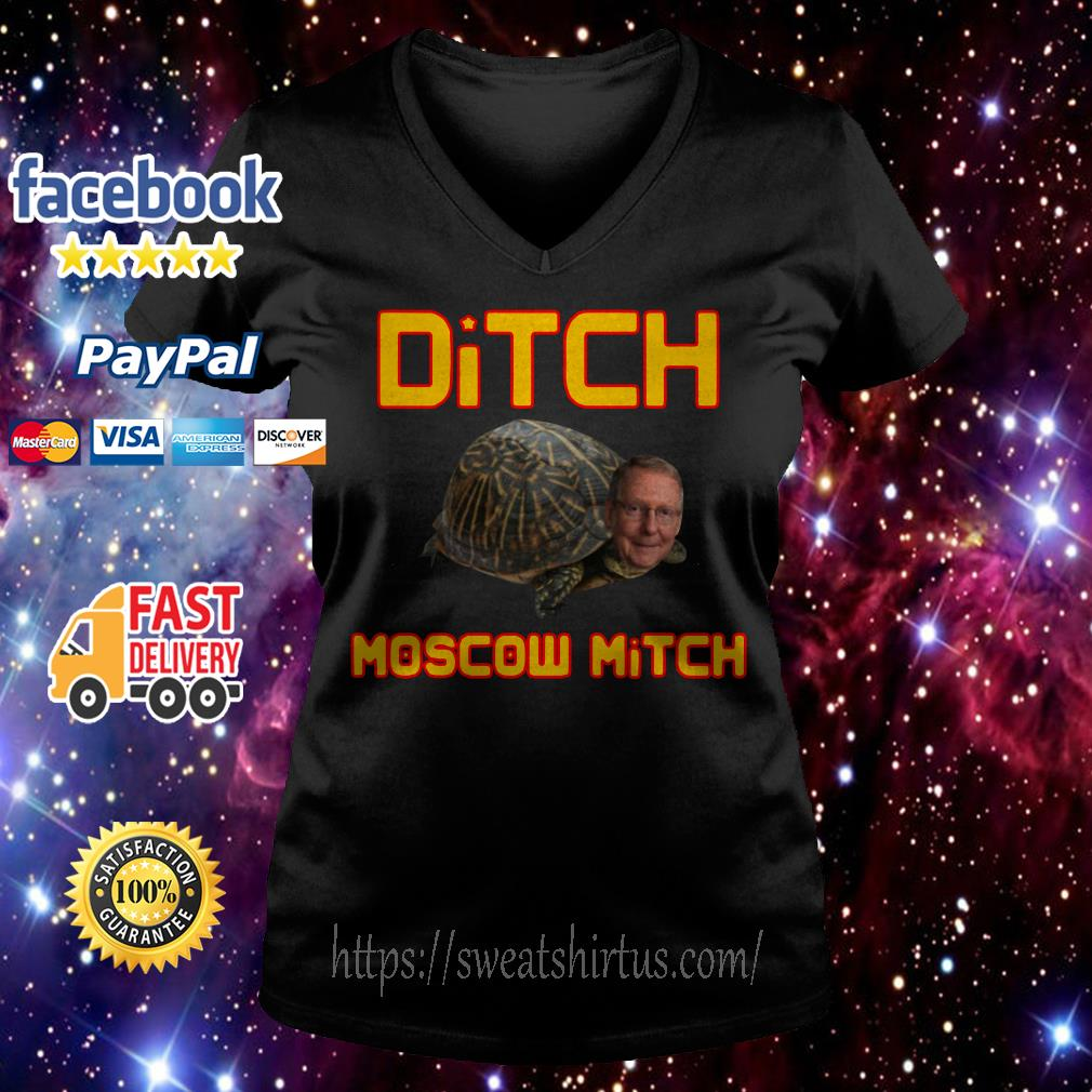 Mitch McConnell Ditch Moscow Mitch V-neck T-shirt