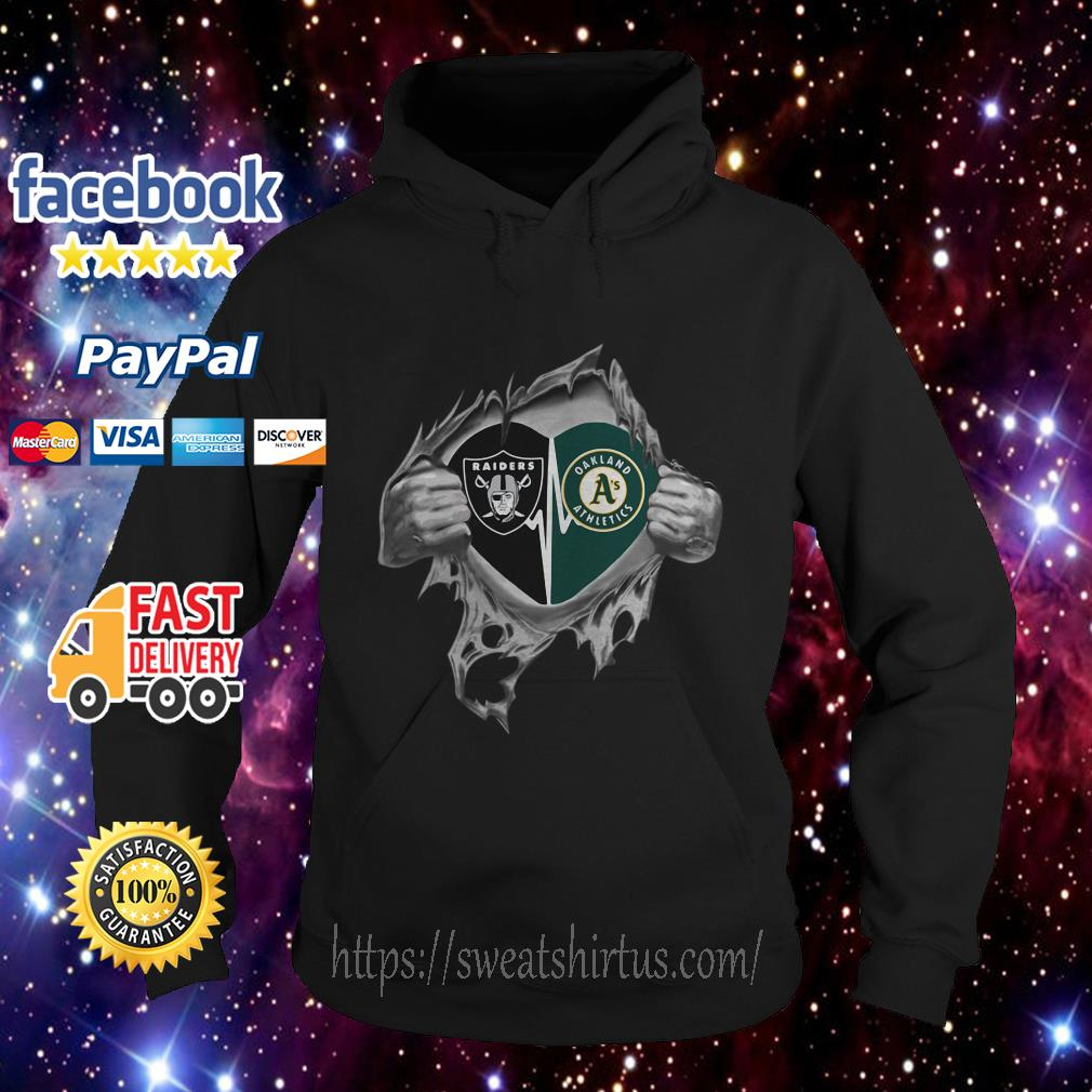 Oakland Raiders and Oakland Athletics It's in my heart hoodie