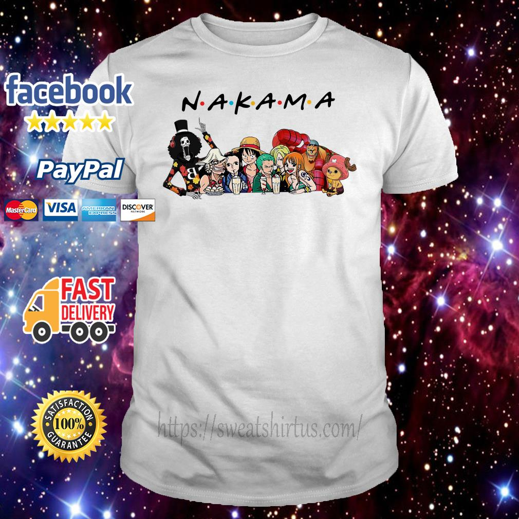 One Piece characters Nakama Friends TV show shirt
