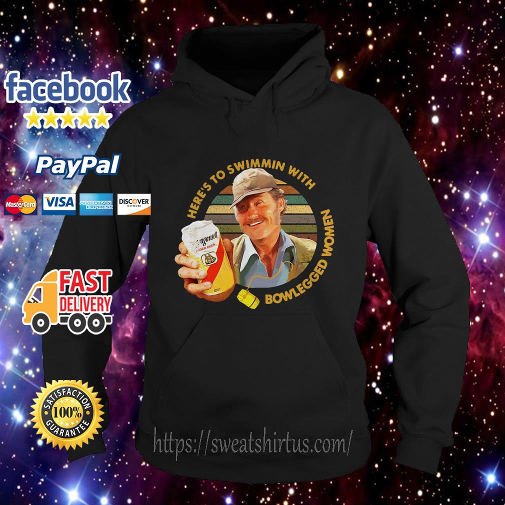 Quint Jaws Here's to swimmin with bowlegged women vintage hoodie