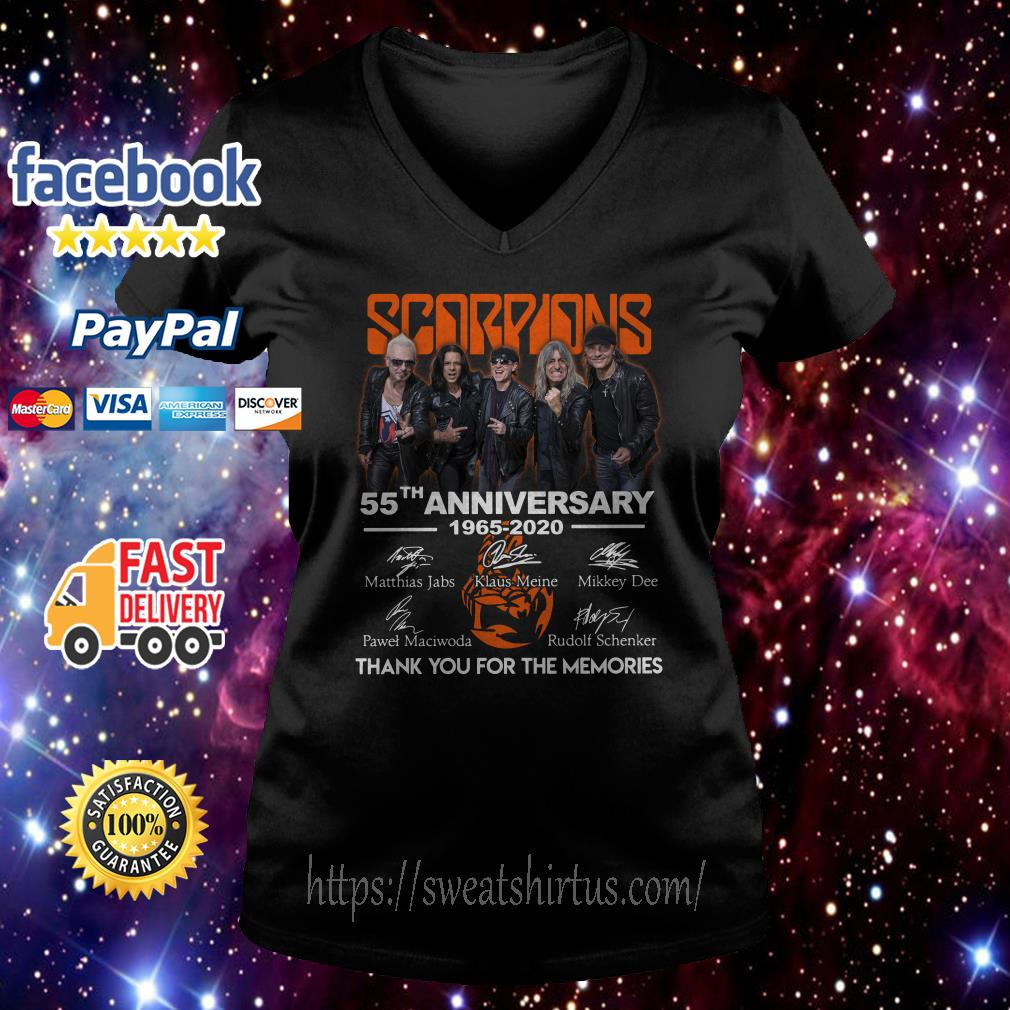 Scorpions 55th Anniversary 1965-2020 signatures  V-neck T-shirt