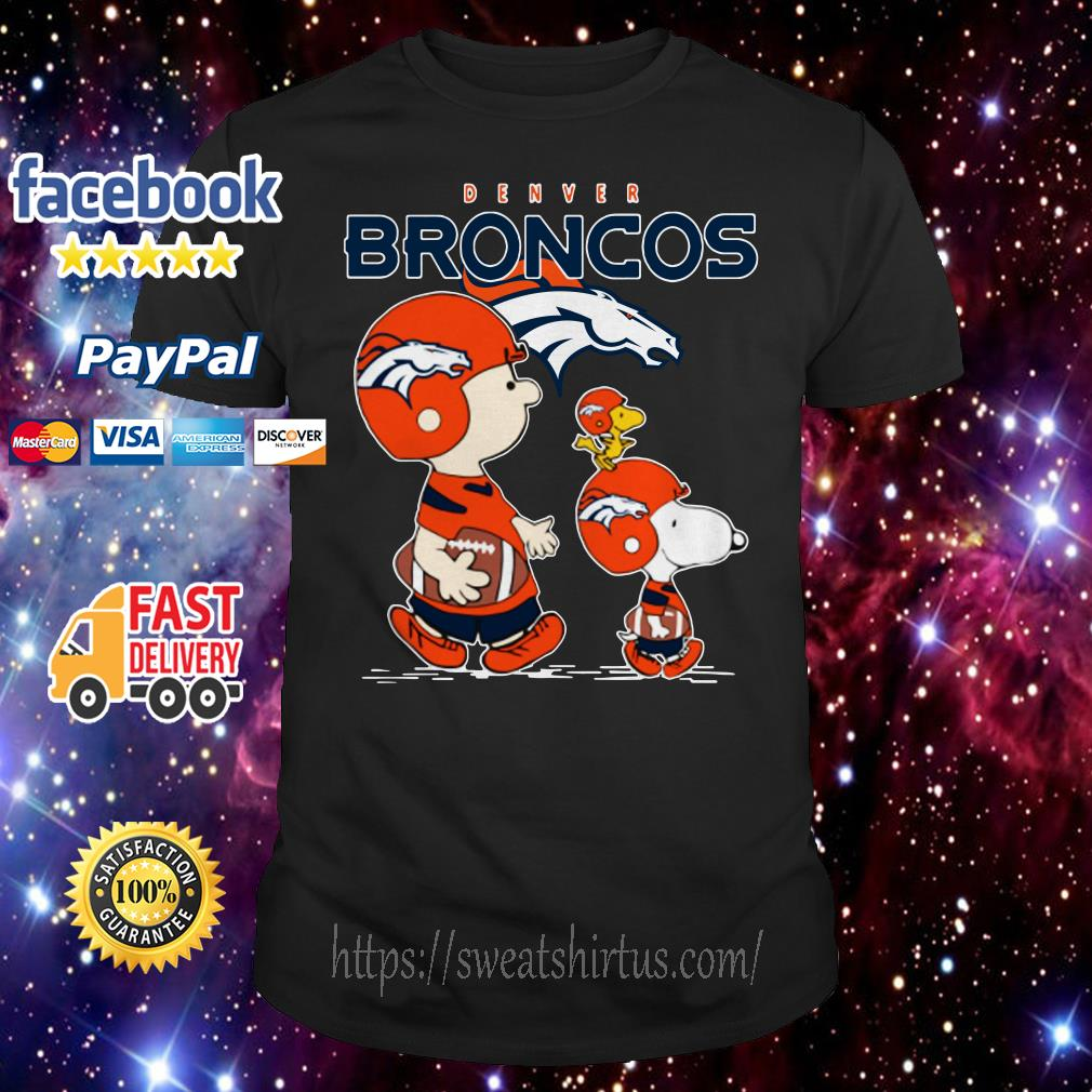 Snoopy and Charlie Brown Denver Broncos shirt