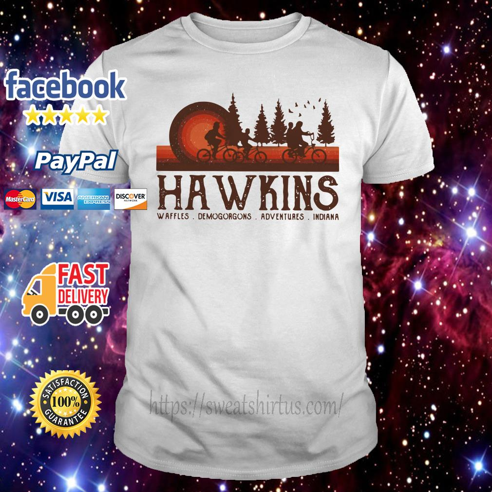 Stranger Things Hawkins waffles Demogorgons adventures Indiana shirt