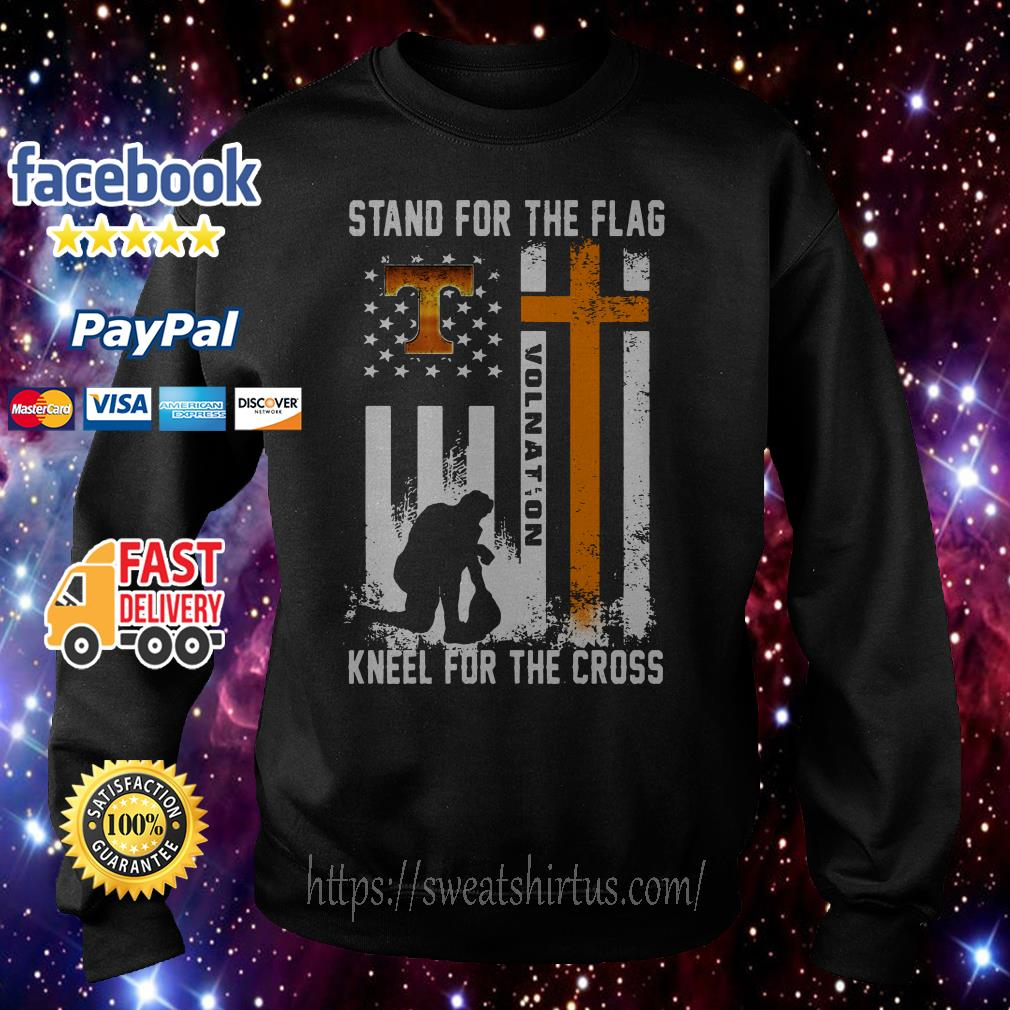 Tennessee Volunteers stand for the flag kneel for the cross Sweater